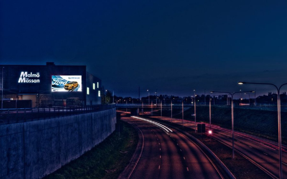 Ad City Media DooH-Anzeige in Schweden (Foto: ACM)