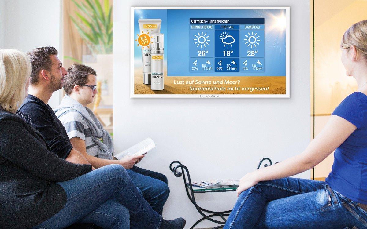 TV Wartezimmer zeigt jetzt auch lokales Wetter (Foto: TVW)