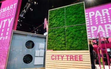 City Tree Vorgängermodell noch ohne DooH-Screen (Foto: Telekom)