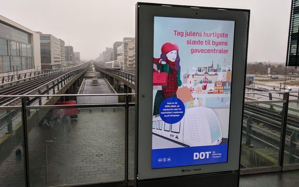 Clear Channel DooH-Stele in Kopenhagen (Foto: invidis)
