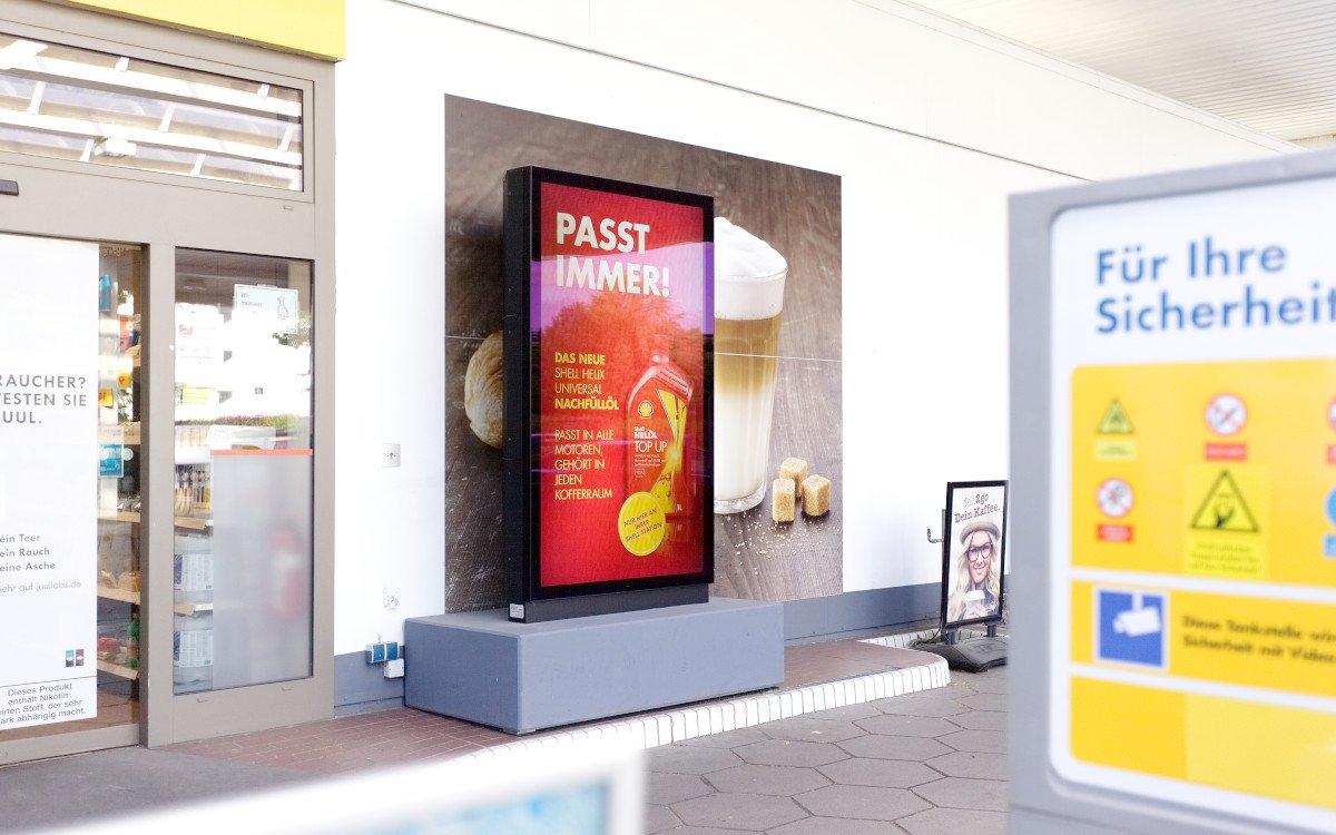 Neue Outdoorstelen in 1.000 Shell-Stationen (Foto: ISM)
