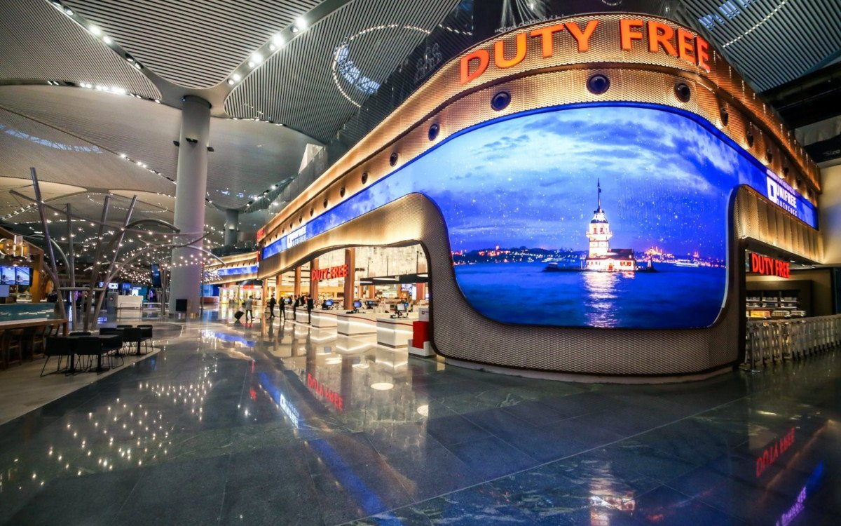 1.000m² Absen LED im Duty Free Istanbul Airport (Foto: Absen)