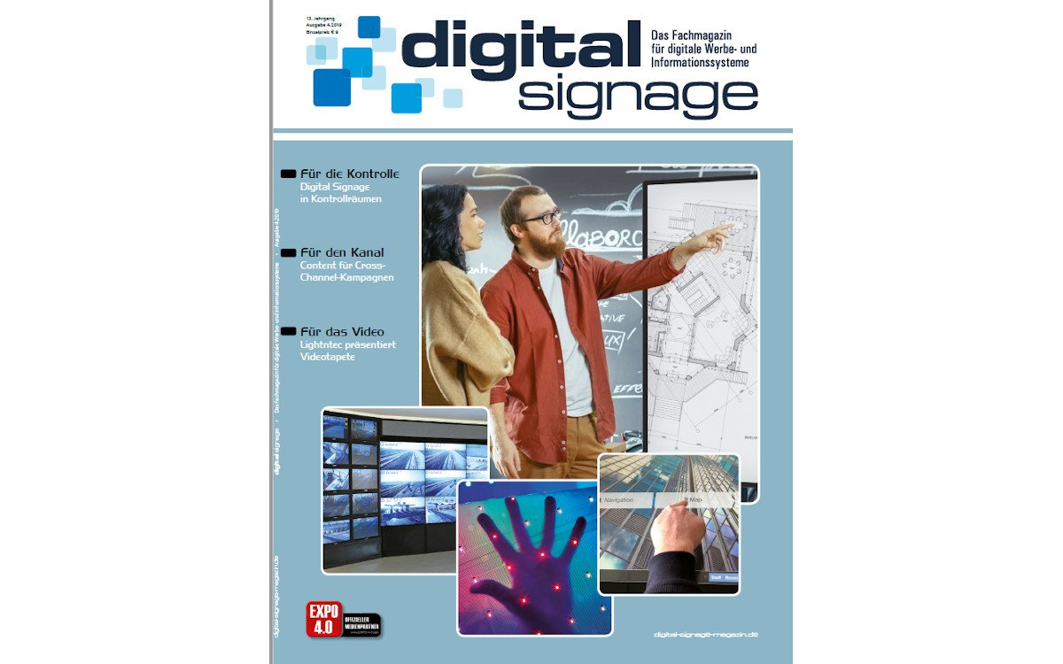 November-Ausgabe des Digital Signage Magazins (Foto: WNP)
