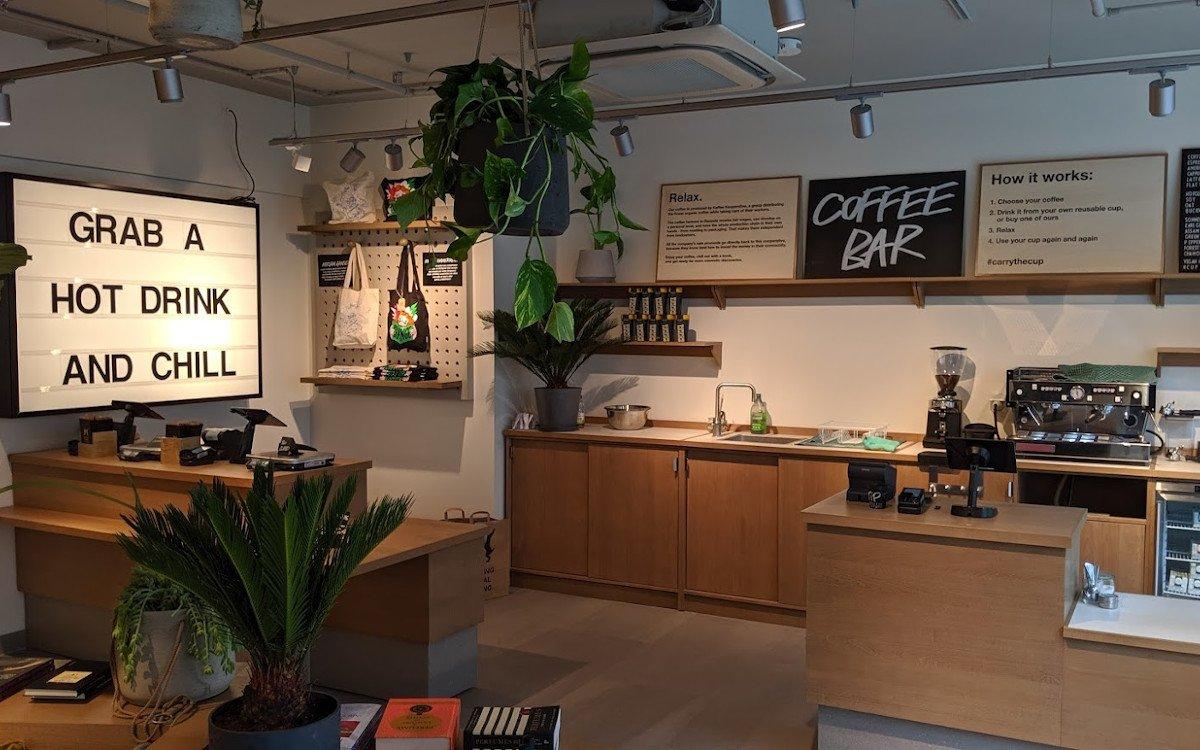 Lush Cafe - nur wiederverwertbare Gefässe werden befüllt. Für Einweg ist kein Platz (Foto: invidis)