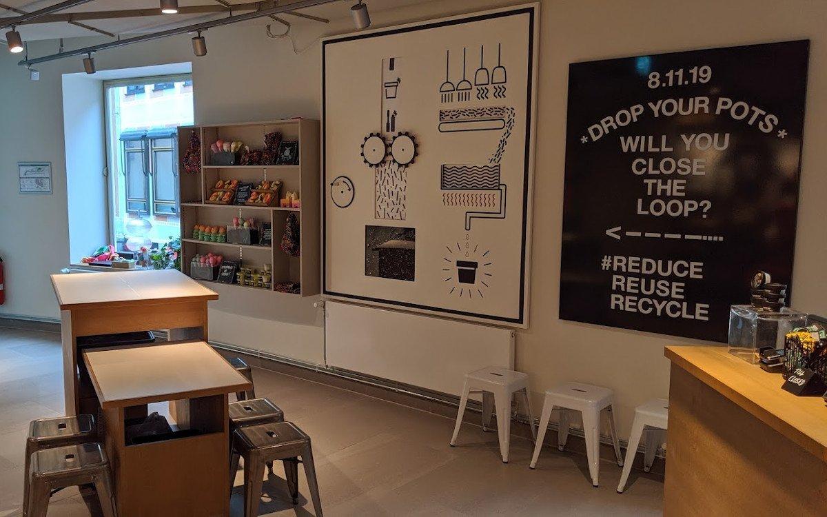 Experience Corner für Kindergeburtstage oder Jungesellinenabschiede - bei Lush München wurde an fast alles gedacht (Foto: invidis)