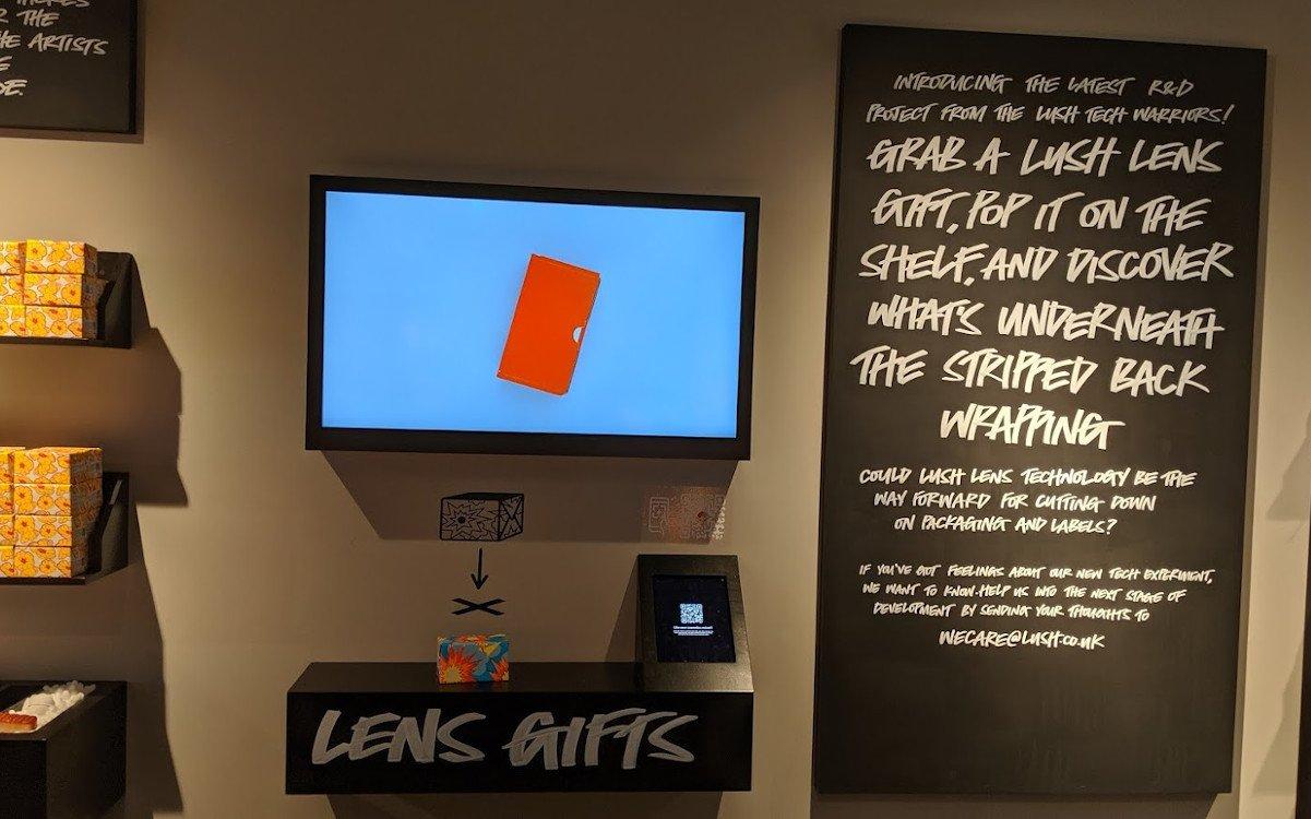AR-Kiosk basiert auf Lush AR-App (Foto: invidis)