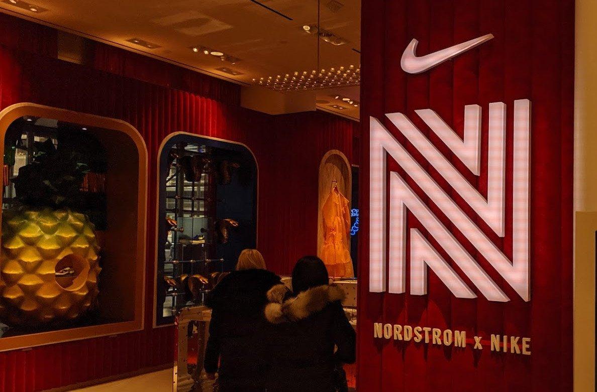 Shop-in-Shop - Retro Kollektion von Nike exklusiv nur bei Nordstrom in NYC erhältlich (Foto: invidis)