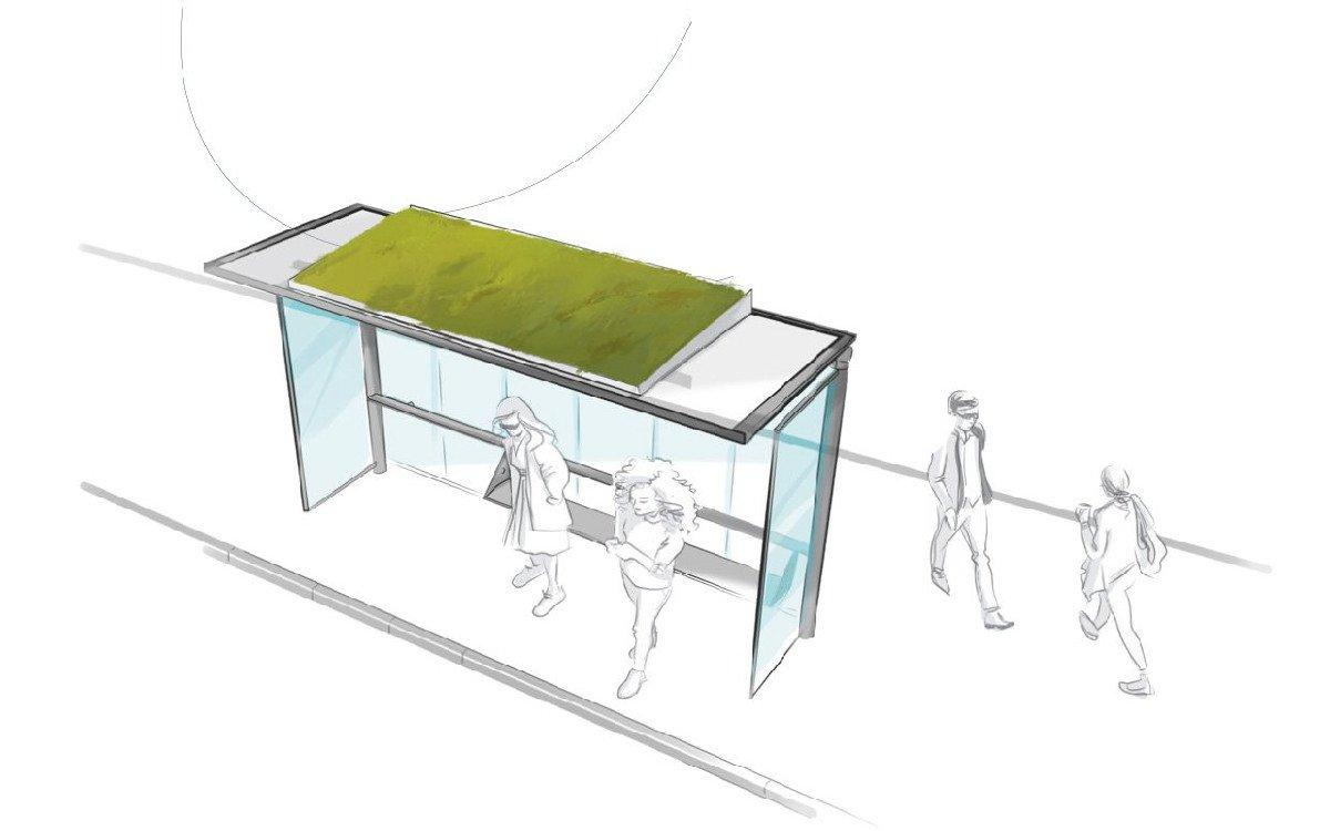 JCDecaux Filtreo reinigt Umluft und kühlt Fahrgäste (Foto: JCDecaux)