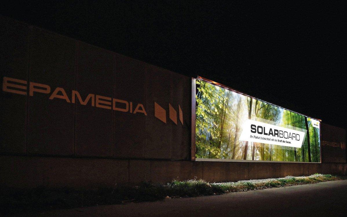 Epamedia Solarboard erhöht die Bruttorecihweite um 34% (Foto: Epamedia)