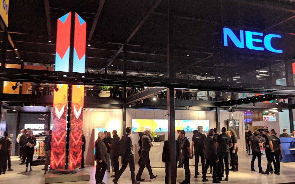 NEC Display Stand auf der ISE 2019 (Foto: invidis)