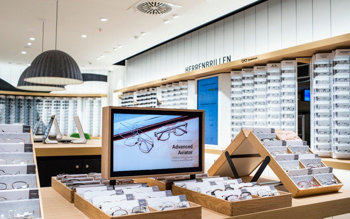 Digital Signage bei Mister Spex in Köln (Foto: Mister Spex)