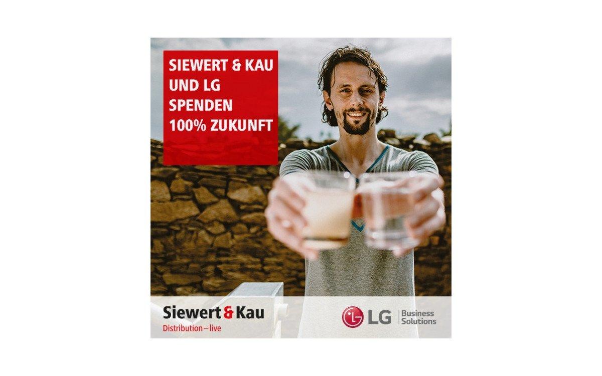 Spendenaktion von Siewert & Kau und LG zugunsten der Neven Subotic Stiftung (Foto: Siewert & Kau)