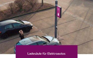 Innogy Smart Poles mit Digital Signage (Foto: innogy)