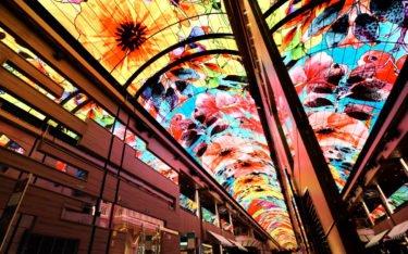 93m Curved LED Deckeninstallation auf der MSC Grandiosa (Foto: Samsung)