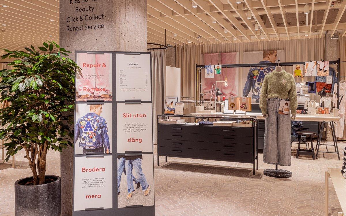 Änderungsschneiderei im H&M Flagship in Stockholm (Foto: H&M David Thunander/Thunander at GMail.com)