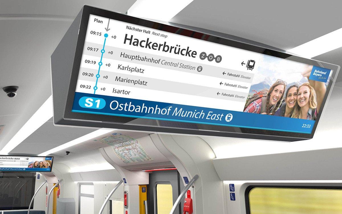 DooH Und Information in den S-Bahnen in München (Foto: BEG)