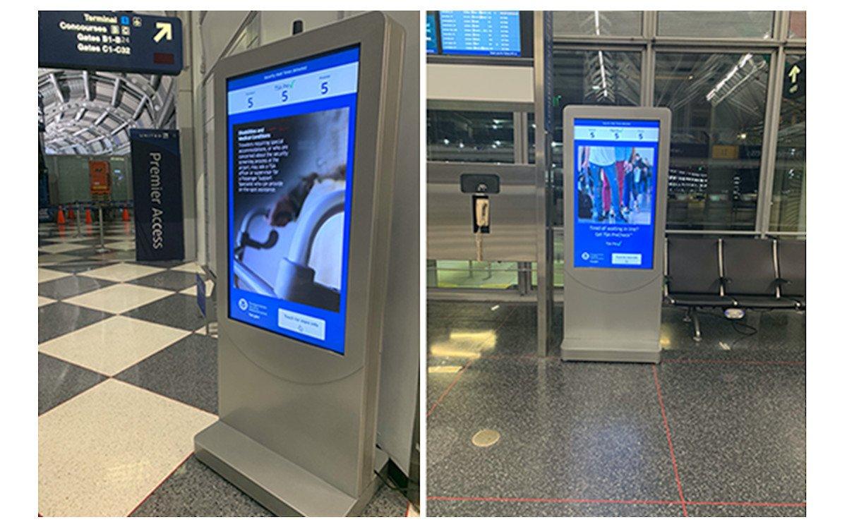 Wenig spektakulär von außen - Adobe Kiosk am Flughafen Chicago O'Hare (Fotos: Adobe)