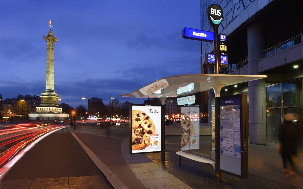 JC Decaux Bushaltestelle in Frankreich (Foto: JCDecaux)