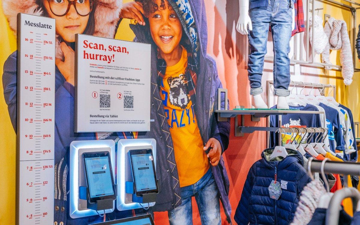 Endless Shelf Applikation bei s.Oliver in Stuttgart (Foto: s.Oliver)