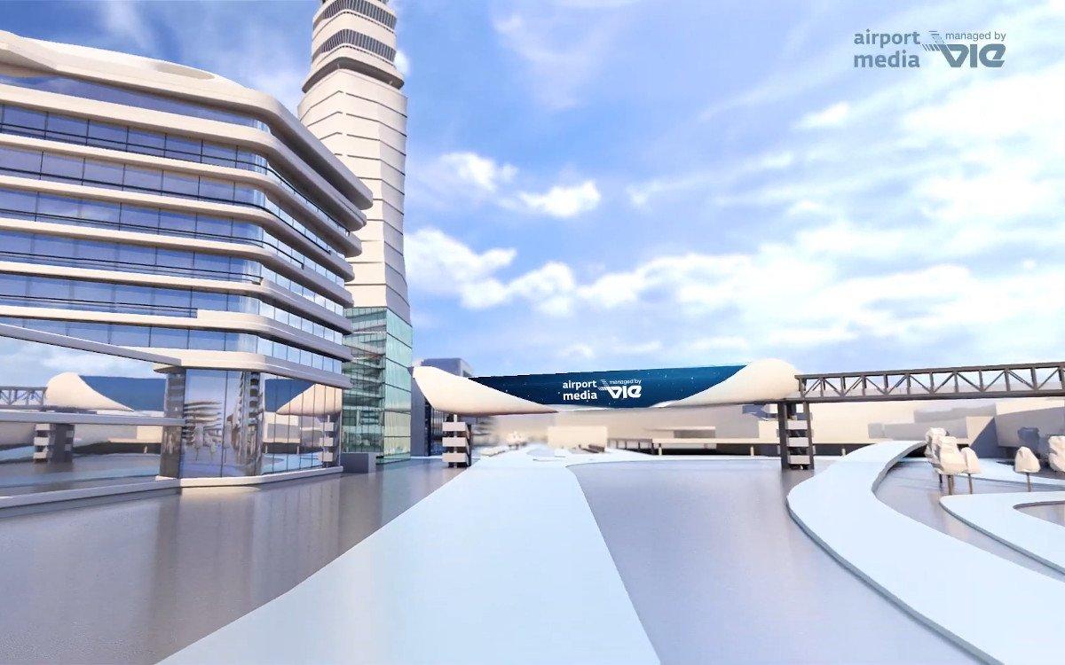 VIE Airport Media Digital Landmark (Foto: Screenshot)