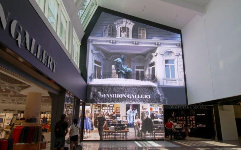 Immersive Video Wall am Flughafen Wien (Foto: Screenshot)