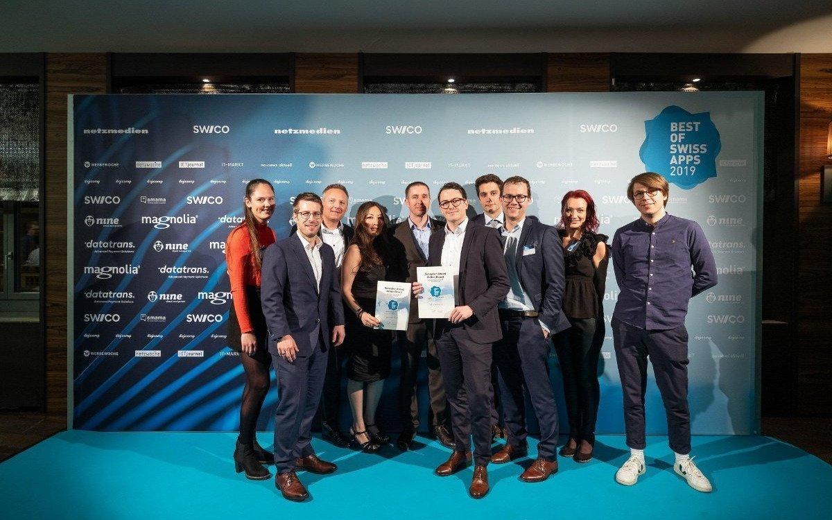 So sehen Sieger aus - JLS Digital bei den Swiss App Awards 2019 (Foto: JLS Digital)