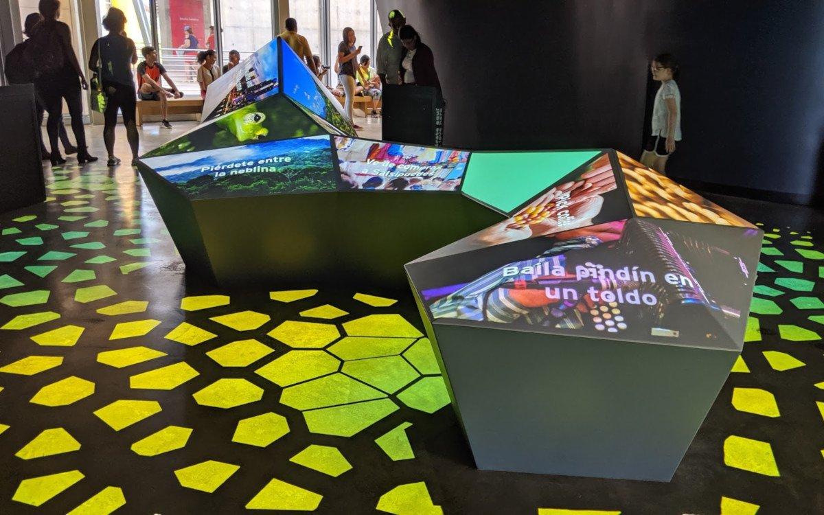 Panama Biomuseo - Digital Signage in Bestform (Foto: invidis)