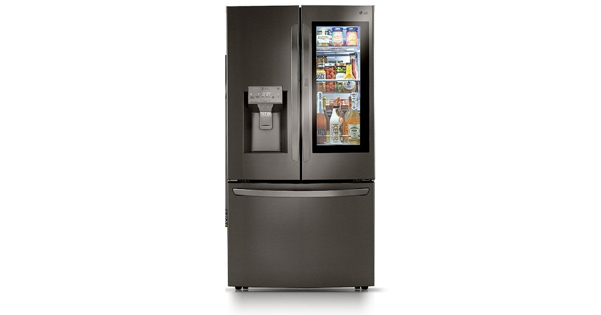 LG Kühlschrank mit transparenten Display (Foto: LG)
