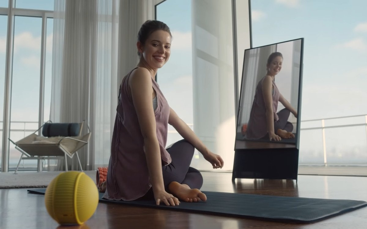 Vertikal Display trifft knuffigen Roboter (Foto: Screenshot)