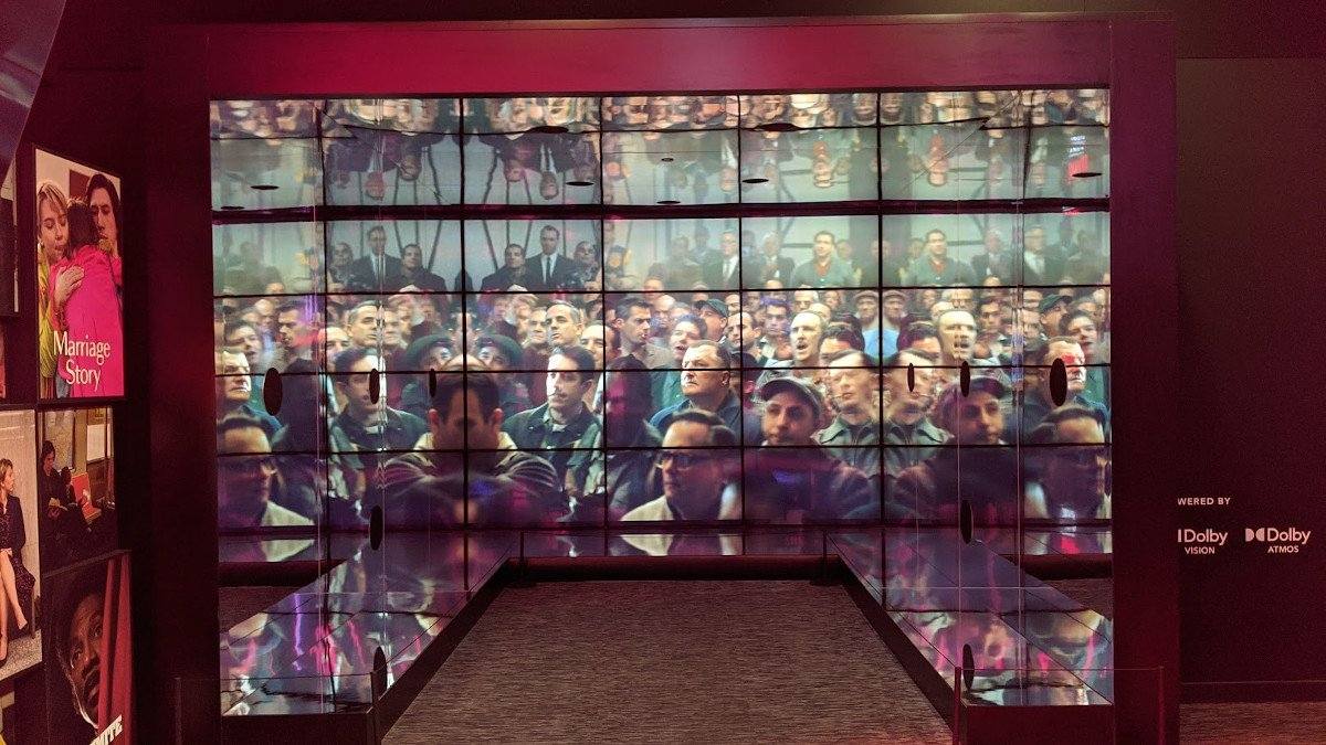 Immersive LCD-Experience in der Lobby von Dolby SoHo (Foto: invidis)