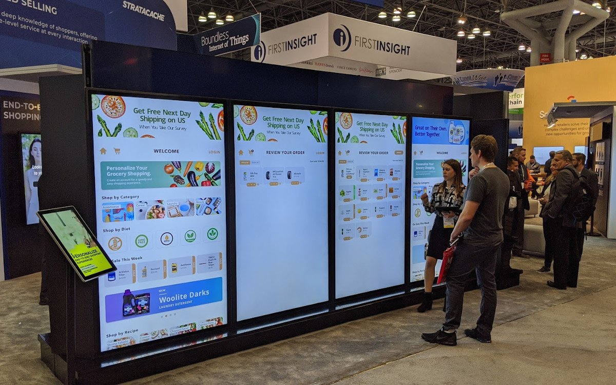 Große Screens, große Pläne bei Stratacache auf dem NRF 2020 (Foto: invidis)