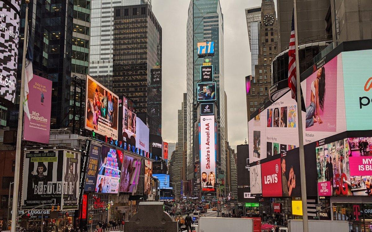 DooH im Überfluss - Times Square New York City (Foto: invidis)
