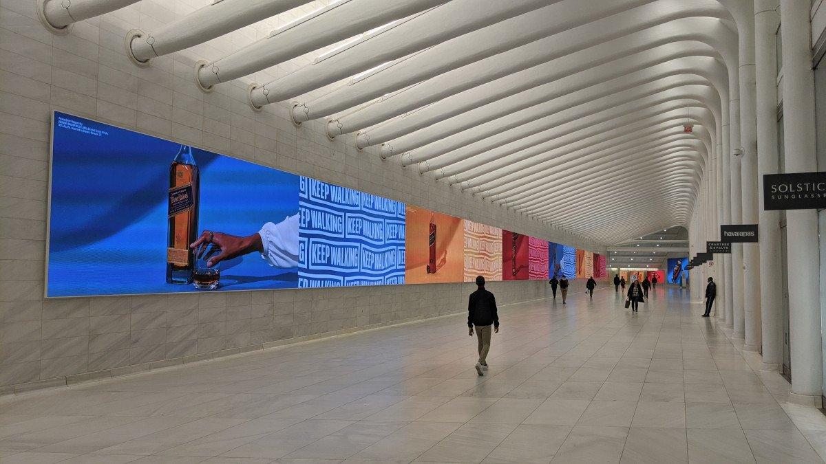 Johnnie Walker Kampagne im Westfield World Trade Center (Foto: invidis)