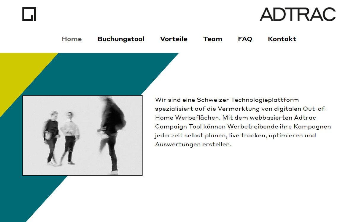 Über die automatisierte DooH-Buchungsplattform Adtrac lassen sich Werbeflächen kaufen und verkaufen (Foto: Screenshot)