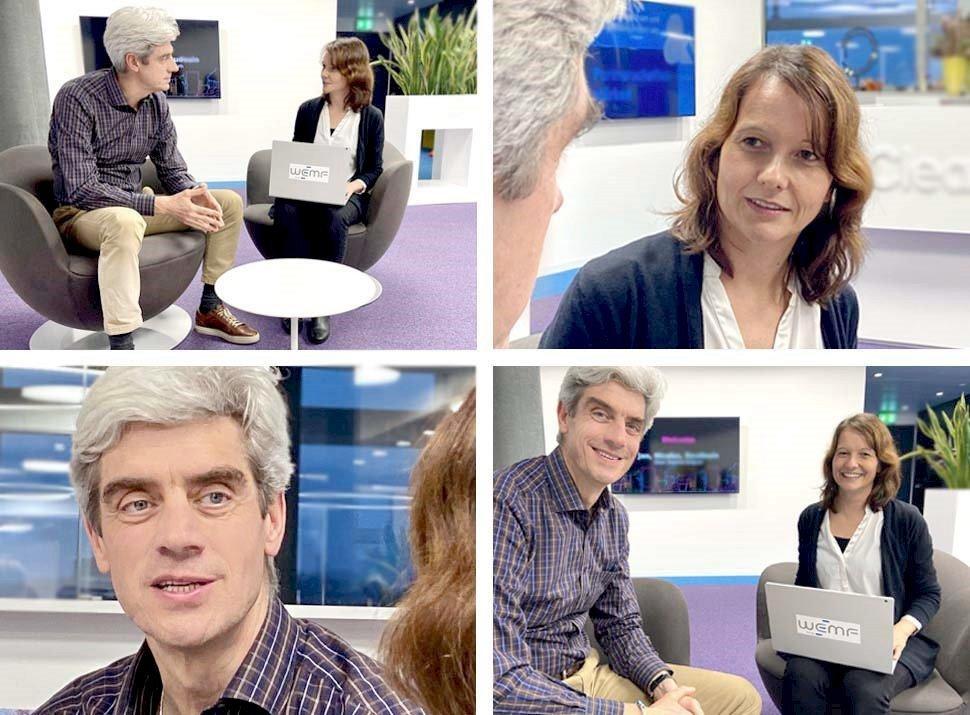 Christoph Marty /Clear Channel im interview mit Corinne Gurtner/WEMF (Fotos: WEMF)