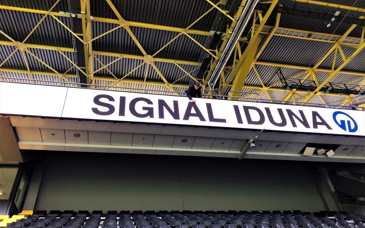 Expromo LED Installation im Signal Iduna Park