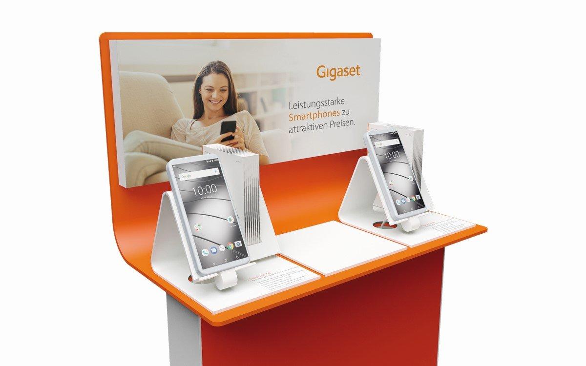 Smartphone-Presenter von marketing-displays für Gigaset