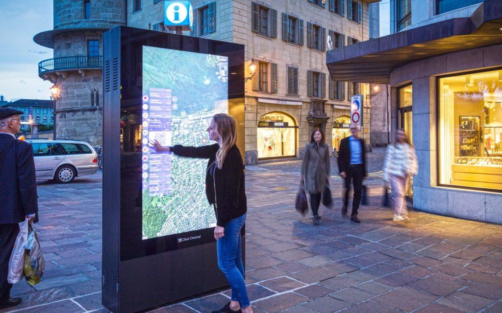 Interaktiver Stadtplan Clear Channel