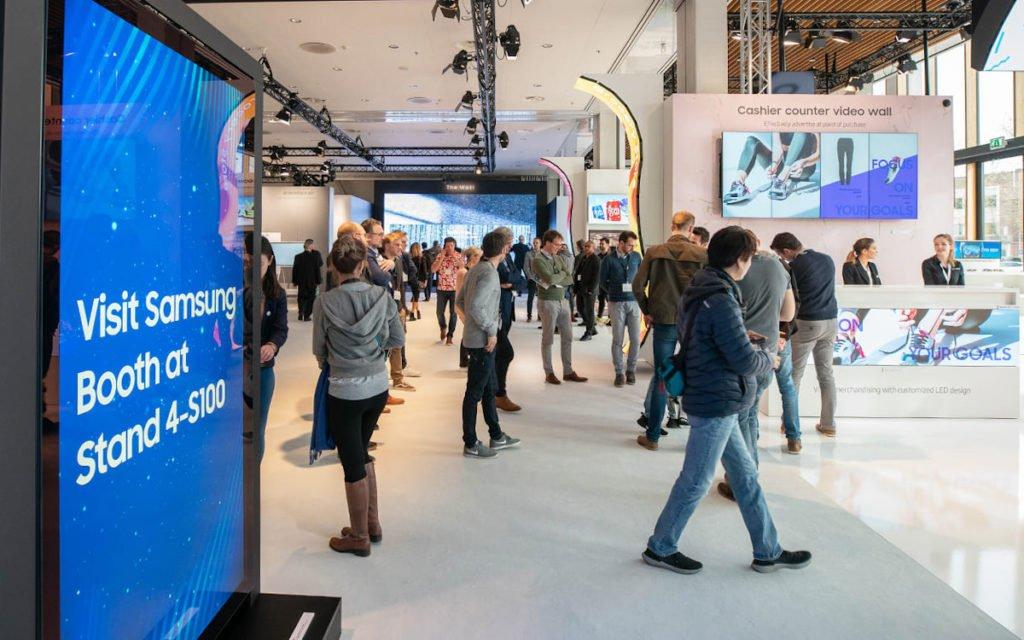 Volles Haus bei Samsung auf der ISE 2020 (Foto: Samsung)
