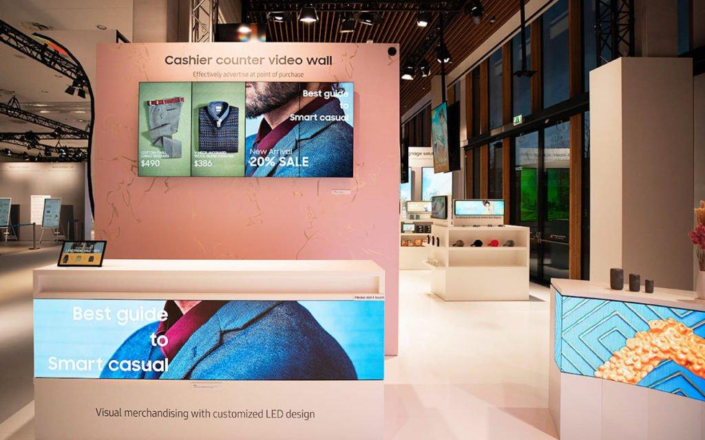 Retail Signage von Samsung (Foto: Samsung)