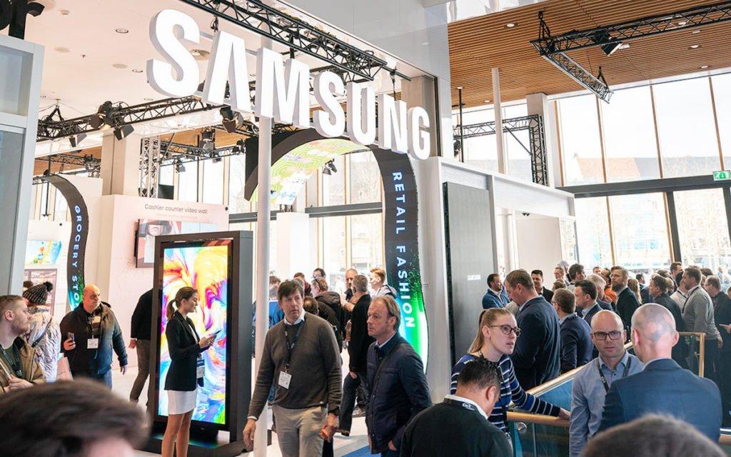 Samsung auf der ISE 2020 (Foto: Samsung)