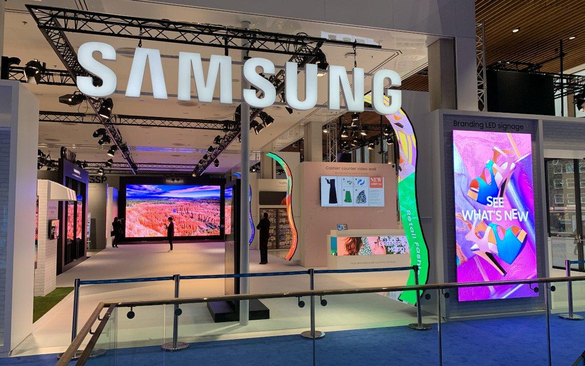 Vor Messeöffnung - Samsung The Wall for Business (Foto: invidis)