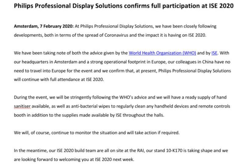 TPV Philips bestätigt ISE Teilnahme (Foto: TPV)
