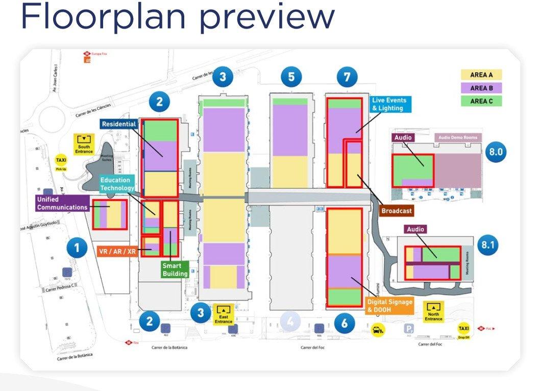 ISE 2021 Hallenplan (Foto: ISE))