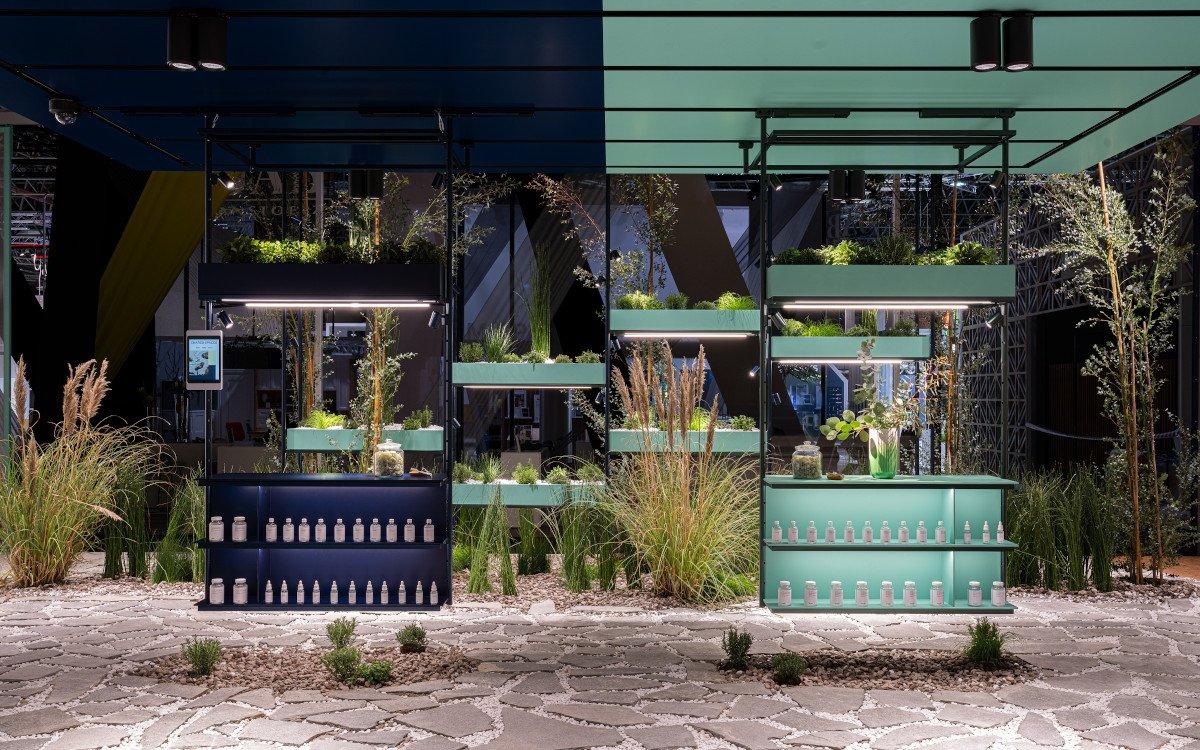Euroshop 2020 Shared Spaces - Herb Garden zwischen Beauty und Food (Foto: Ansorg, Visplay, Vizona)