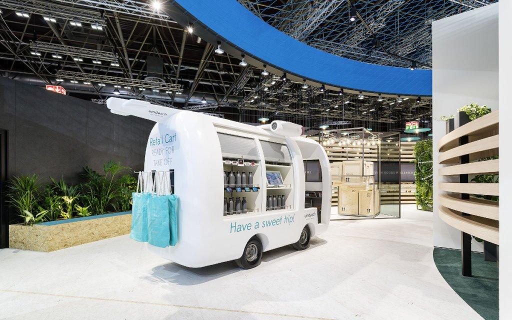 Das Retail Cart – die neue mobile Verkaufslösung für Travel Retail (Foto: Umdasch)