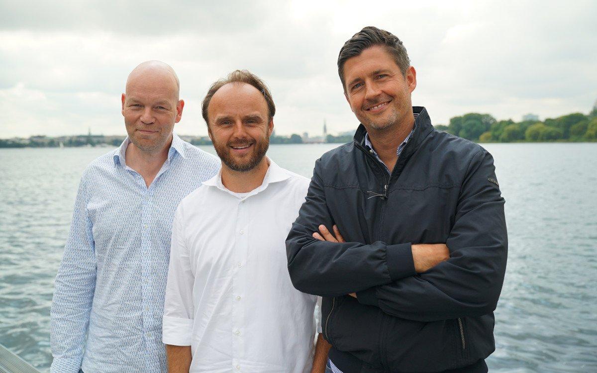 Von links: Peter Dräger (MG GREY Shopper), Marco Burkhardtsmayer (MD MuSe Content), Jan-Philipp Jahn (CEO GREY Germany) (Foto: Grey)