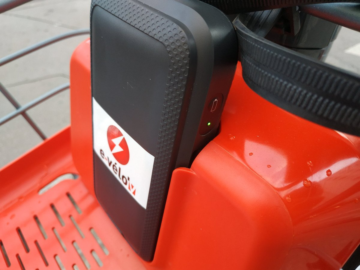 Mobile Akkus der JCDecaux Hybird-Bikes (Foto: Stadt Lyon)