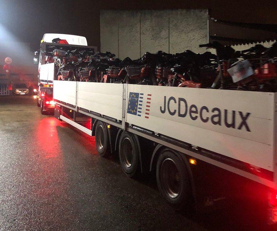 Herkules-Aufgabe Logistik - Austausch von 2.500 Fahrräern in fünf Stunden (Foto: JC Decaux)