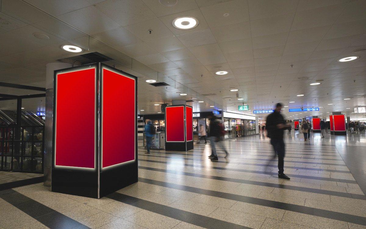 APG Branding Zone am Hauptbahnhof Zürich (Foto: APG)